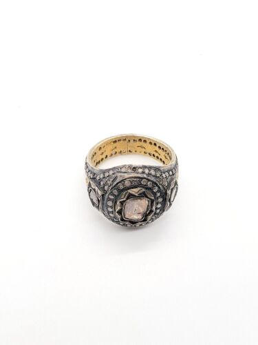 14KT GOLD RING WITH UNCUT DIAMOND