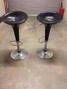2 black bar stools Edithvale Kingston Area Preview