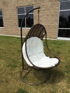 Brand New Hanging Chair with Stand Cushion Basket