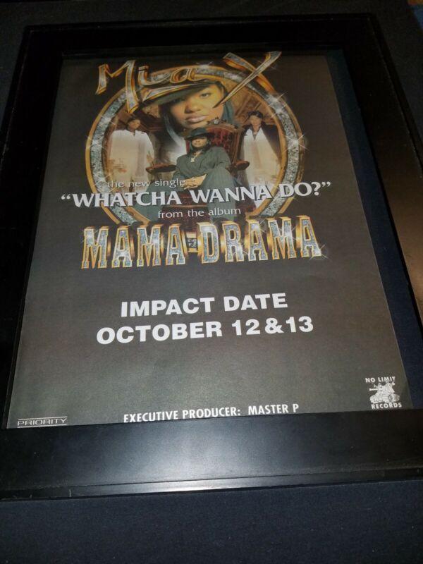Mia X Whatcha Wanna Do Rare Original Radio Promo Poster Ad Framed!