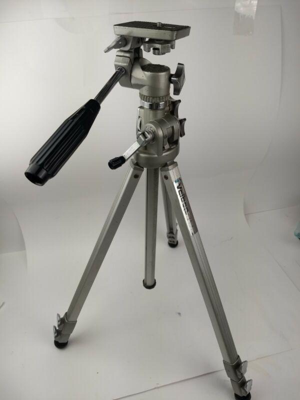 """Velbon VS-3 Vintage Aluminum Camera/Video Tripod  25""""-60"""" Height"""