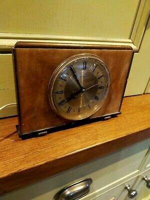 Vintage Metamec electric mechanical 1950's clock with marble back