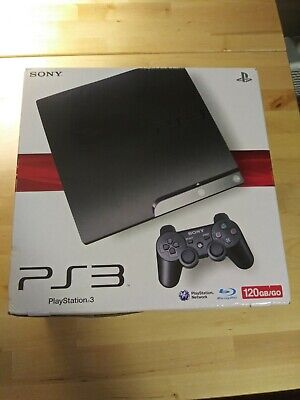 Sony PlayStation 3 Slim (PS3 Slim)-120GB COMPLETE IN BOX- GREAT CONDITION