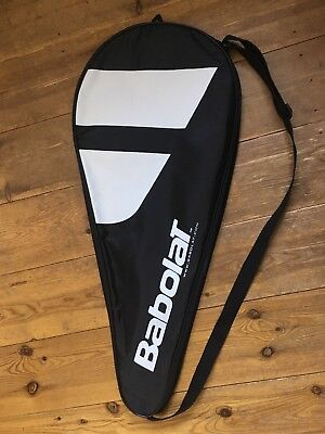 """Babolat Tennis Junior Racket Cover, Fits 25"""" and 26"""" rackets, Black With Strap."""