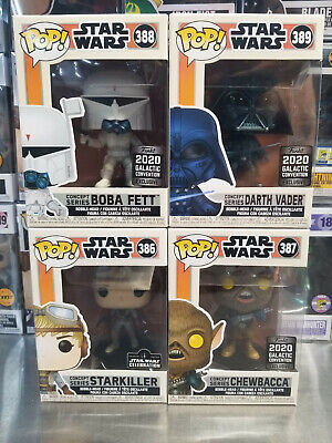 Funko Pop! Star Wars Concept Series Boba Fett Darth Vader Chewbacca StarKiller