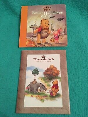 "2 Winnie The Pooh Kids Hardcover/Board Books ""Halloween Parade/One Special Tree"" (Halloween Specials Board)"