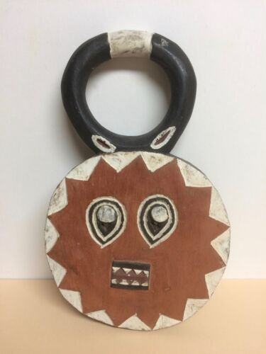 """African GOLI MASK - 17"""" - Hand Carved, Hand-Painted Wood"""