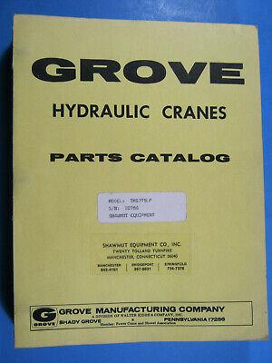 Grove Model Tms375lp Hydraulic Cranes Parts Catalog Manual Sn 20786 Clean