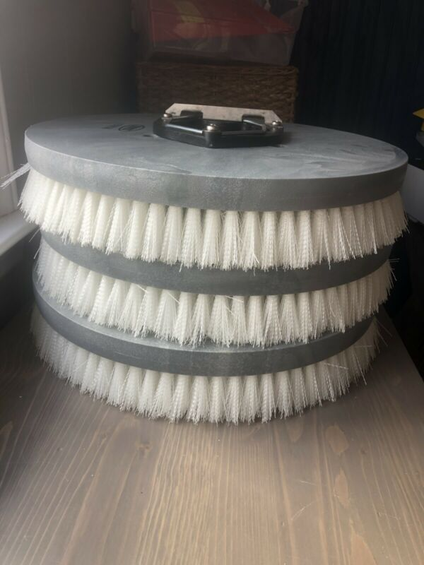 "LOT OF 3   Tennant Nylon Disk Scrub Brush 1016634   16"""