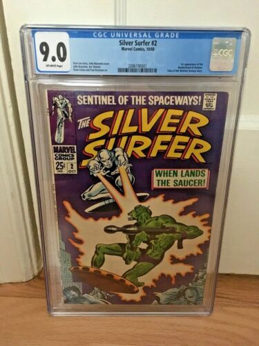 SILVER SURFER #2 1968 CGC 9.0 BLUE LABEL FIRST APPEARANCE BADOON MARVEL COMICS