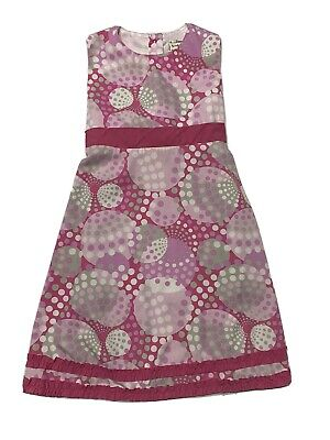 Evy of California Size 6x Girls Dress Multi Colored Shades of Pink, Gray