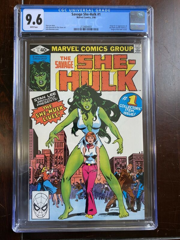 Savage She-Hulk #1 (1980) CGC 9.6 - Origin & 1st App of She-Hulk - Hulk Origin