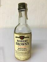 Raro Mignon Miniature Robert Brown's Especial Whisky Seagram Argentina 5cl 43% -  - ebay.it