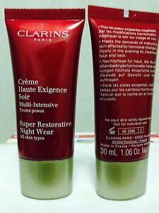 CLARINS Super Restorative Night Cream  - 2 x 30 ml - new
