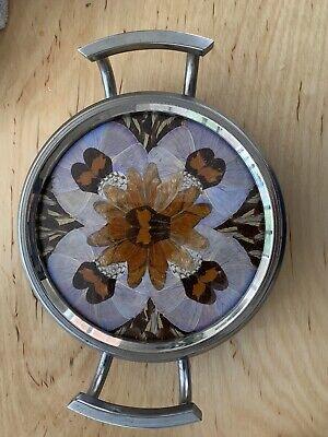 Brazillian 'silver' Framed Butterfly Wing Small Tray