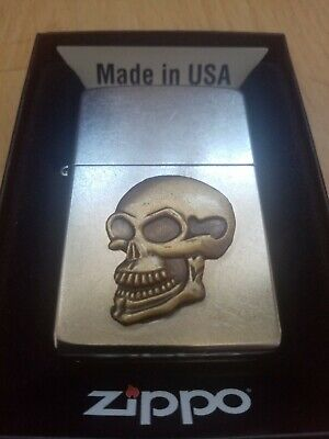 Zippo skull lighter brand new never used comes with zippo box