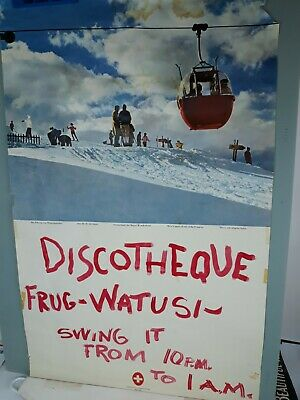 VINTAGE Swinging  60's  SWITZERLAND SKIING TRAVEL POSTER Watusi Frug Giegal