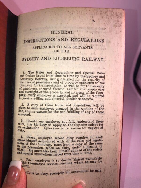 RAILROAD 1925 Canadian Sydney Louisburg Rail Employee  Booklet