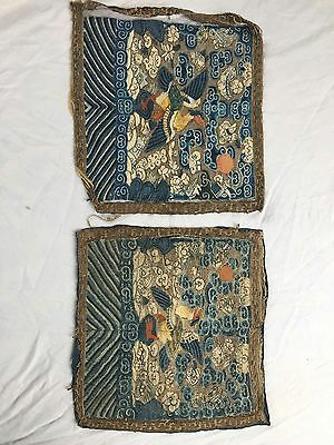Chinese Rank Badge Dynasty antique embroidery
