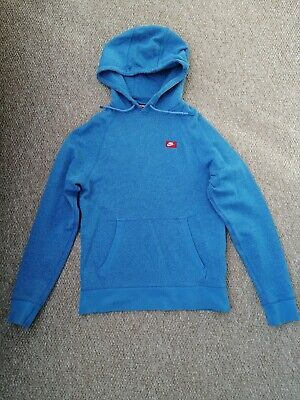 Men's Blue Nike Tech Knit Hoodie, Used, Small