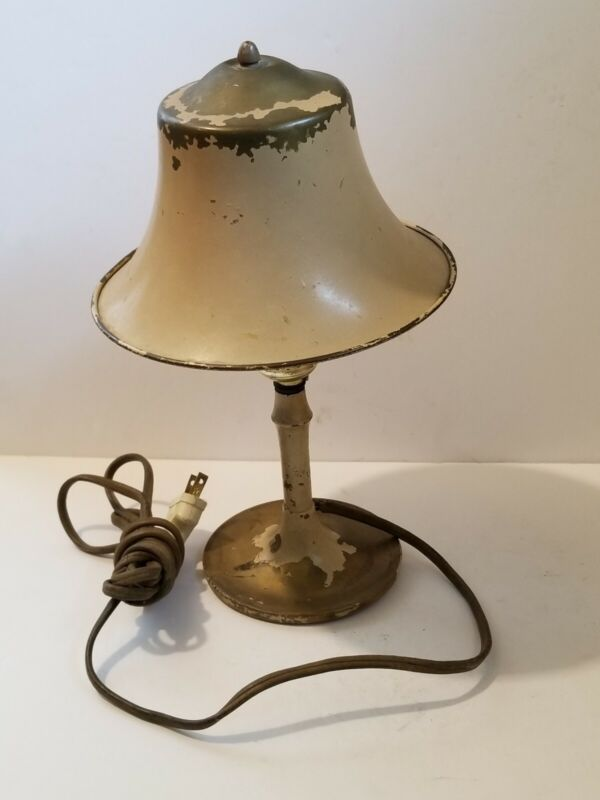 Pullman Style Brass Railroad Dining Car Table Lamp