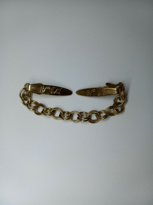 Vintage Jewelry Pat. 285376 Gold Tone Sweater Clip. 1692