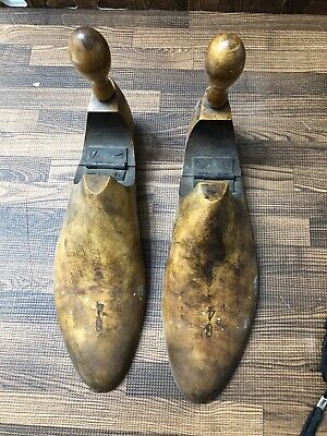 Antique Victorian Solid Wooden Shoe Form Tree Stretcher Shaper Insert Marked 84
