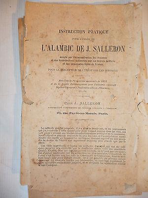 Alambic de j. salleron dans sa boite appareil scientifique distillateur de vin