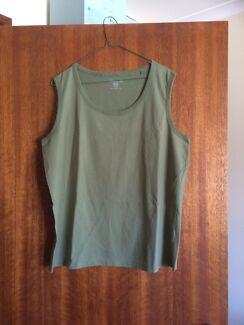 Women's khaki cotton t-shirt brand new
