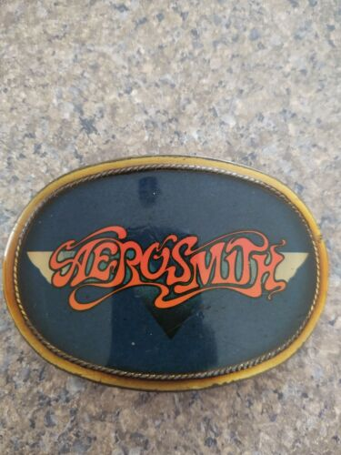 Aerosmith belt buckle 1977 era