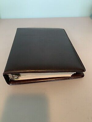 Classic 1.5 Dark Brown Faux Leather Franklin Covey Plannerbinder Wpages