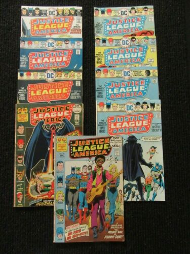 Justice League Of America #95, #96 & #123-#129  Nine (9) Books!!  See Pics!!