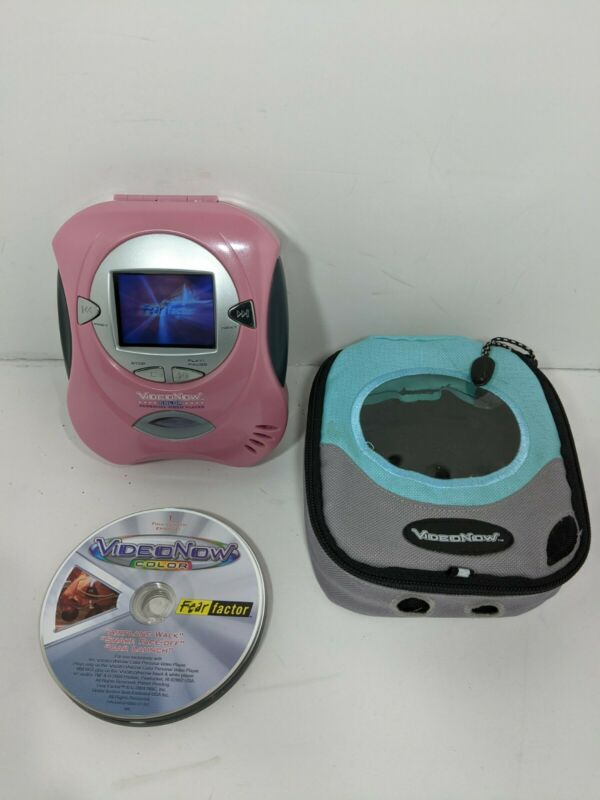 2004 Hasbro Video Now Color - Personal Video Player - w/Case And 8 Discs - Works