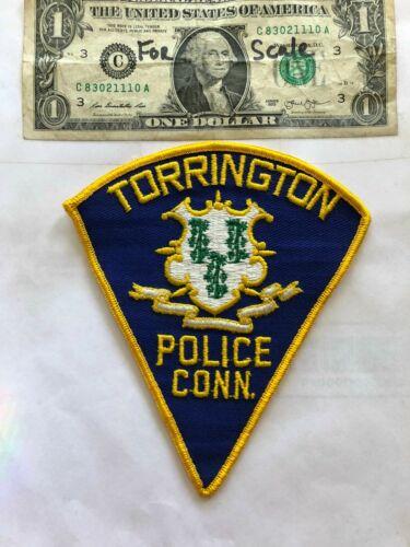 Rarer Torrington Connecticut Police Patch Un-sewn great shape
