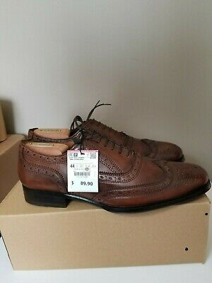 Men's Zara Brown Wingtip Dress Shoes Sz 11