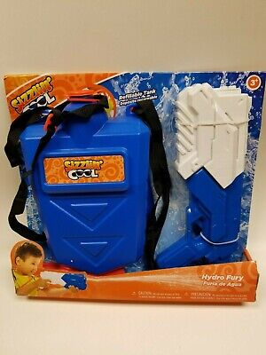 Water Gun With Backpack (SIZZLIN' COOL Hydro Fury water gun with refillable tank)