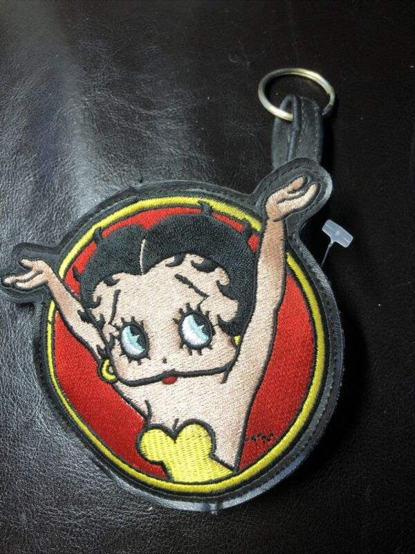 Embroidered Betty Boop Patch Coin Purse