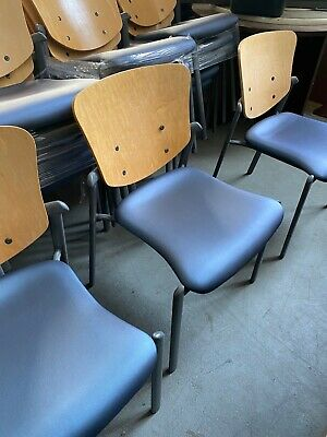 Lot Of 10 - Guest Side Lobby Stackable Cafeteria Chair By Haworth Improv
