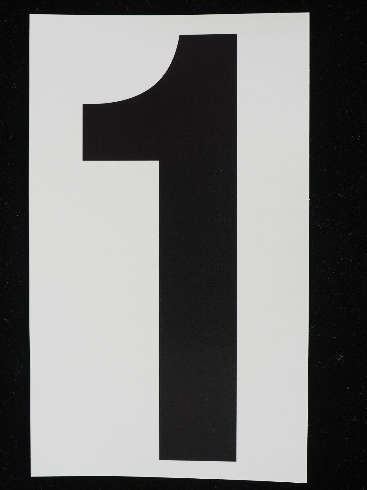 "Home Decoration - 5"" U-PICK 0-9 Stickers Vinyl Adhesive Address Numbers Black & White MADE USA"