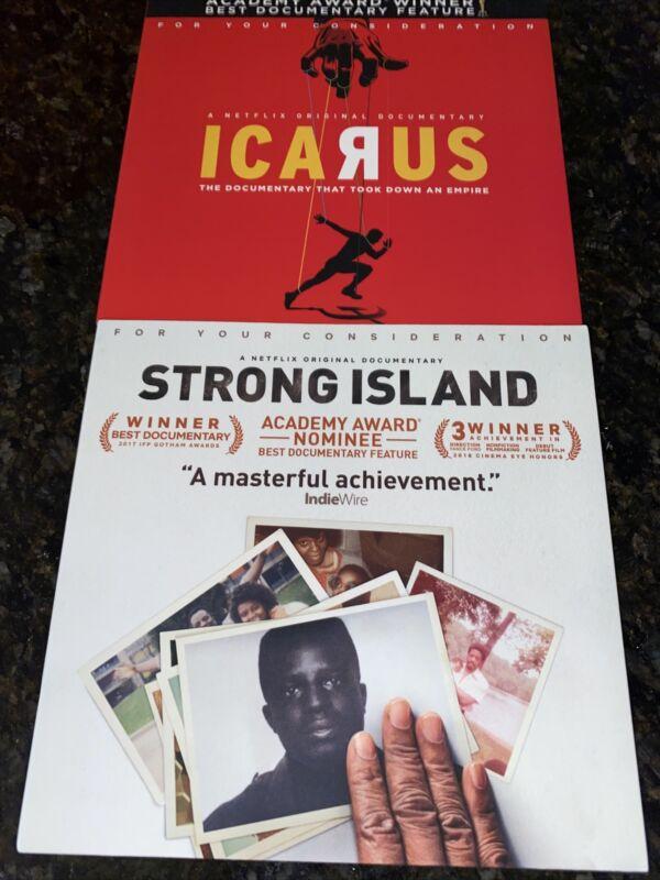 Icarus & Strong Island Documentaries Dvd Netflix Promo FYC Great Shape!