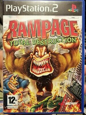 Sony Playstation 2 Game * RAMPAGE TOTAL DESTRUCTION