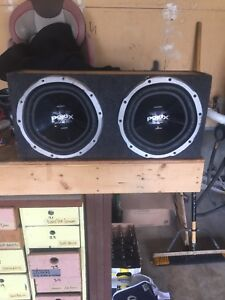 """12"""" subs Nd 1000 Watts Sony explode amp"""