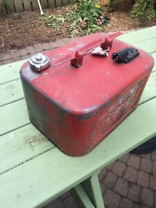 Old metal gas tank