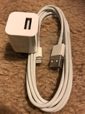 Lightning  Charger For Apple iPhone 5 6 7 & 8 plus / 6 foot long Cable and Plug