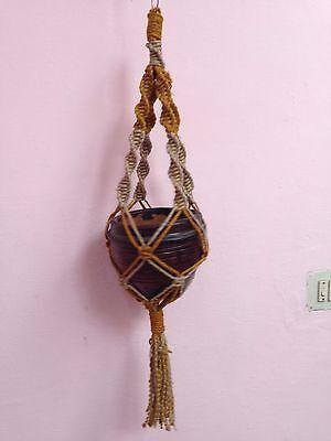 handmade Macrame Jute plant hanger pot hanger bird feeder 36inches