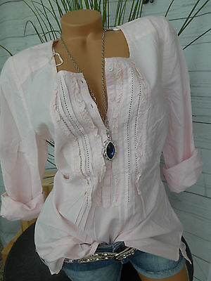 Sheego Bluse Tunika Shirt Gr. 40- 56 Rose Langarm (200)