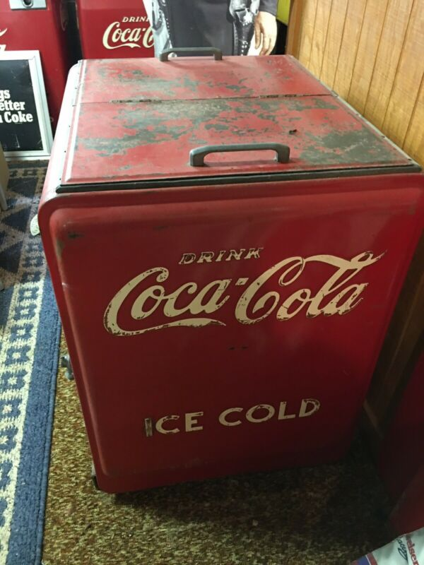 Vintage Coca Cola Cooler Chest Icebox