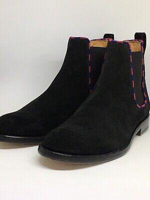 Justin Deakin Toby Chelsea Boots In Black Suede Size UK 10, EU Size 45