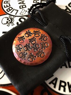 DANCING SKULLS Hand Made Custom Copper Golf Ball Marker!