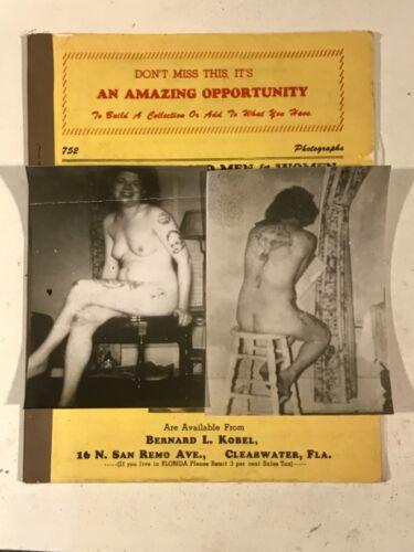 Antique Vintage Tattoo Bernard L Kobel 50s 60s collectors photographs